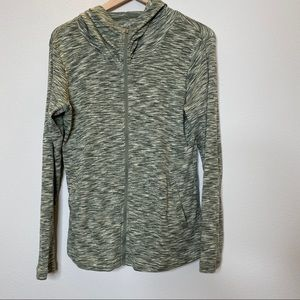 Columbia- Green Outerspaced Full Zip Tech Hoodie